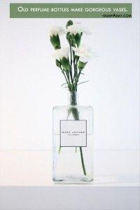 Genius Crafty ideas- Perfume bottles make gorgeous vases