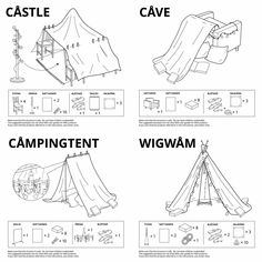 more official ikea blanket fort designs! (credits to u/SoberSquid) : coolguides