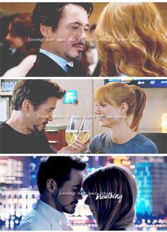 Pepper and Tony. Just go and propose her, Tony! Marvel And Dc Superheroes, Marvel Fan, Marvel Avengers, Marvel Comics, Tony And Pepper, New Iron Man, We Have A Hulk, Marvel Quotes, Iron Man Tony Stark