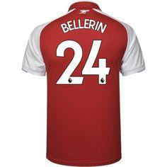 acceca411 Arsenal 2017 18 Home Men Soccer Jersey BELLERIN  24. Hector BellerinLaurent  Koscielny18thArsenalSoccer JerseysPremier LeagueMenProductsSports