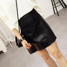 Women'S Black Fall Winter Pu Pashmina Package Hip Short Skirt Green Dresses Cheap Summer Dresses From Celandine0615, $18.1| Dhgate.Com