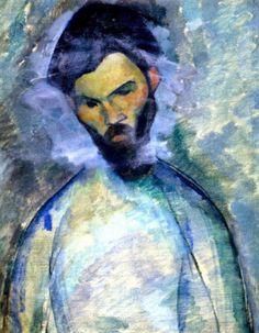 "Amedeo Modigliani - Portrait de Brancusi, 1909  """
