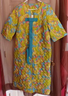 Girl's Vintage Retro Paisley Mod Quilted Robe Size 16 #Unbranded #Robe