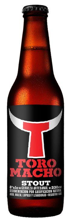 Diseño de etiqueta para cerveza artesanal Toro Macho