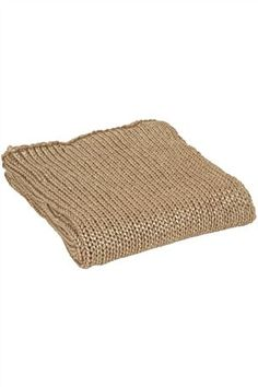 Gold Knit throw