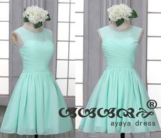 Short Bridesmaid Dress , mint green bridesmaid dresses, Bridesmaid dresses with Sweetheart Neckline,prom dress,evening dress 2015,