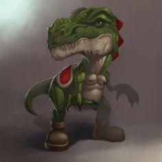Yoshi Rex #Nintendo #Mario
