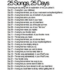 Scratch My Head: The 25 days Songs Challenge. ❤ liked on Polyvore