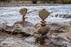 Slovenia-based artist Miha Brinovec creates precariously balanced stone sculptures in rivers and streams by painstakingly stacking stones by hand. According to Brinovec, the process of stacking sto...