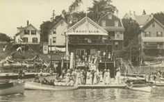 Image detail for -Summer Fun at the Boothbay Harbor, Maine Yachting Club, c. 1907-1918