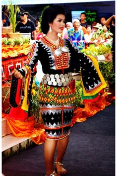 Dusun Tindal's traditional costume. One of the ethnics in Sabah (North Borneo), Malaysia.
