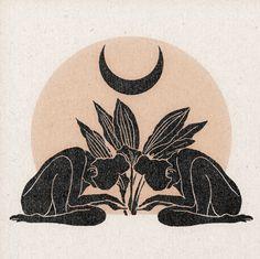 'Plant Worship' Print - printed on archival matte paper - Gravure Illustration, Art Et Illustration, Illustrations, Fenrir Tattoo, Art Inspo, Bild Tattoos, Ouvrages D'art, Wow Art, Art Design