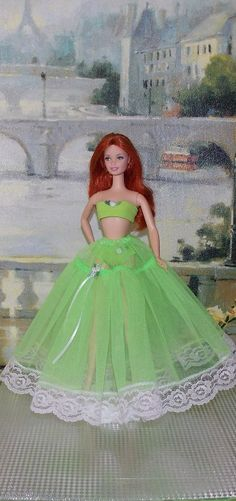 Hey, I found this really awesome Etsy listing at https://www.etsy.com/listing/188426143/handmade-barbie-clothes-lime-green-3-pc