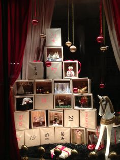 Beautiful advent calendar window display at Imi Loa, Western Rd, Brighton. 2013