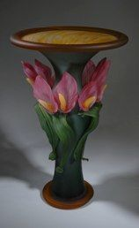 Dk Green over Aurora with Pink Calla Lilies by Susan Rankin.  From www.susanrankin.com