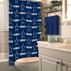 2a4c25f6f The official NFL shower curtain by the Northwest let  you show your team  spirit even while you  in the shower! Pair this with our official NFL  shower ...