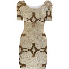 Brown Grunge Bodycon Dress