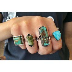 Skydog turquoise rings! #silversmith #handmade #turquoise #jewelry #ring #shoplocal #shop #buy #forsale #gift #giftidea #etsy #etsyshop #artisan #maker #california #longbeach #Padgram