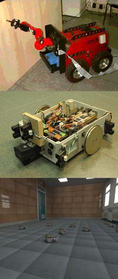 Nel laboratorio di robotica si trovano manipolatori industriali, unità  semoventi e diversi strumenti di misura.  Un problema costantemente  studiato è il coordinamento (software) di  questi agenti.  In questo laboratorio viene verificata gran parte degli studi teorici  in robotica e stima di grandezze cinematiche.