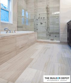 Beautiful Bathroom Renovation Project Featuring X Porcelain - 18 x 24 floor tiles