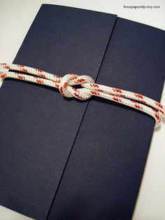 Square knot invitation... this would be cute for us