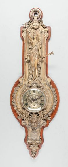 Decorative Arts, French:Other , A LOUIS XVI-STYLE PATINATED BRONZE FIGURAL CARTELLE CLOCK Image #1