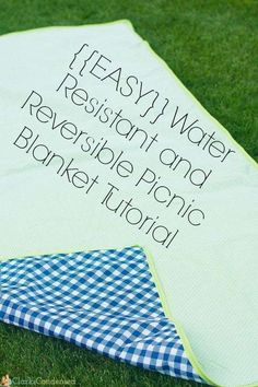This is an easy, reversible and waterproof picnic blanket tutorial that is a great beginner's sewing project. You do not need to have superb sewing skills to make this - follow this easy beginner tutorial to make your own! It's really fun to have during the summer for picnics and outdoor concerts! #clarkscondensed #eswing #sewingtutorial #blankettutorial #picnicblanket #diy #diysewing #summerproject