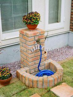 施工例画像:庭 レンガ水道