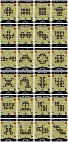 Official Variant Tile Layouts | Forbidden Island | BoardGameGeek