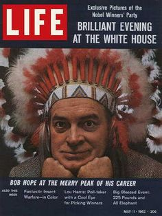 "Bob Hope ~ Life Magazine, May 11, 1962 issue ~ Click image or visit oldlifemagazines.com to purchase. Enter ""pinterest"" at checkout for a 12% discount."