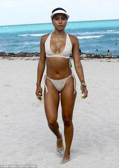 It was all fun in the sun for Karrueche Tran on Friday. The 28-year-old model was spotted enjoying a day out at the beach in Miami. Dressed in a nude-colored bikini, the brunette beauty had a great time.