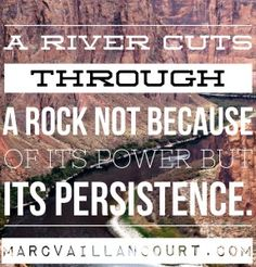 On being persistent. A #MondayMorningInspiration quote presented by Marc Vaillancourt.