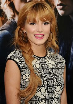 Famous Actress,Dancer Bella Thorne From Disney Channel's Shake It Up Tv Show At The Mortal Instruments Movie Premiere.