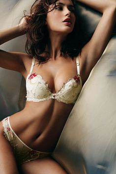 Lise Charmel Lingeire: 18 Carat Collection Demi Bra & Tanga, modeled by Catrinel Menghia Belle Lingerie, Hot Lingerie, Lingerie Bonita, Pretty Lingerie, Vintage Lingerie, Beautiful Lingerie, Colorful Lingerie, Delicate Lingerie, Fashion Lingerie