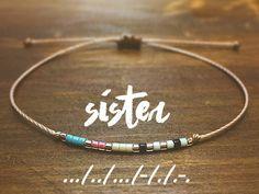 Sister Morse Code Bracelet - Best Friend Gift - Friendship Bracelet - Best Friend Bracelet - Gift for Her - Sister Bracelet