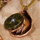 Necklace~Enamel and Stone Necklace~Fair trade through Folio Gothic Hippy~NK325