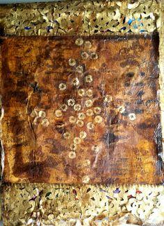 Laura Buhai Frings: Encaustic,pigments on linen