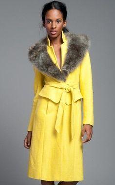 Anthropologie Tracy Reese Lemon Peplum Coat