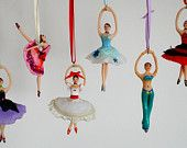 Clara from the Nutcracker ballerina ornament. $34.00, via Etsy.