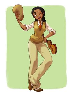 Tiana as Naveen. - The Princess and the Frog | 13 Disney Heroines Swap Clothes With Their Heroes