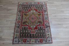 Vintage rug,collection rug,muted color rug,ethnic rug,rug for wall,Turkish oushak rug,3'2x4'7 ft  very rare rug,unique rug,area rug,boho rug by misscarpet on Etsy https://www.etsy.com/listing/563416160/vintage-rugcollection-rugmuted-color