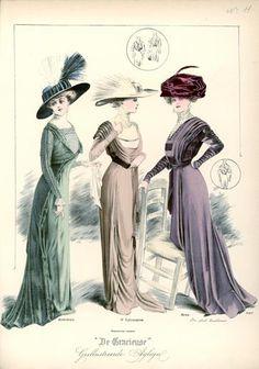 De Gracieuse June 1909, Edwardian Fashion Plate