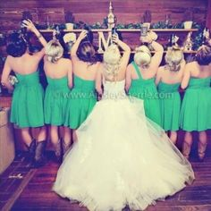 Bride and bridesmaids getting their drink on before the wedding. I'll definitely will have a photo like this at my wedding with my girls!!!