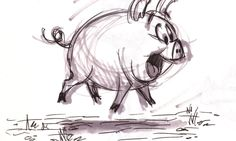 Don't even ask me what made me decide to draw pigs.