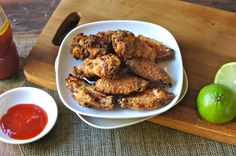 If you are looking for a crispy chicken wings recipe that doesn't involve any deep-frying, then I'd like to suggest you give my Crispy Baked Lemongrass Chicken Wings recipe a try. You can either use my recipe or your own to marinate the wings