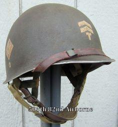 WWII M2 101st Airborne 501st Helmet Front Seam Paratrooper Liner Dbale Net Scrim