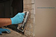 how to tile (fireplace makeover)