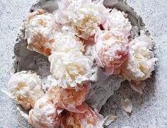 white and blush peonies for a wedding