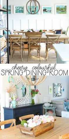 Home Interior Velas Looking for colorful spring inspiration in the dining room? Join my Colourful Spring Dining Room Tour from The Happy Housie! Blue Home Decor, Spring Home Decor, Cheap Home Decor, Foyers, Concept Ouvert, Dining Room Design, Dining Rooms, Room Tour, Do It Yourself Home