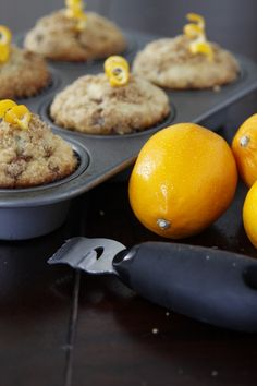 Meyer lemon coffee cake muffins- what to bake if I ever finish/start my thesis